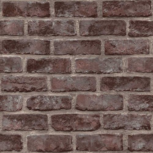 Non-Woven Wallpaper brick wall stones brown EP3505