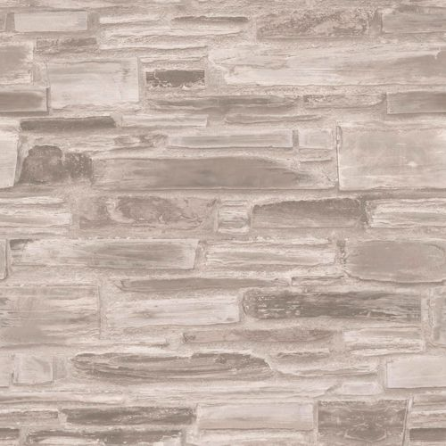 Non-Woven Wallpaper stone wall taupe grey Exposure EP3203