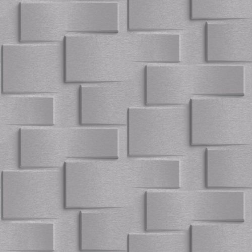 Non-Woven Wallpaper 3D-wall stones dark grey EP3304