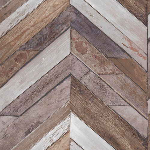 Non-Woven Wallpaper wood wall geometric grey EP3401