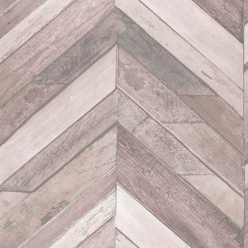 Non-Woven Wallpaper wood wall geometric taupe EP3403 online kaufen