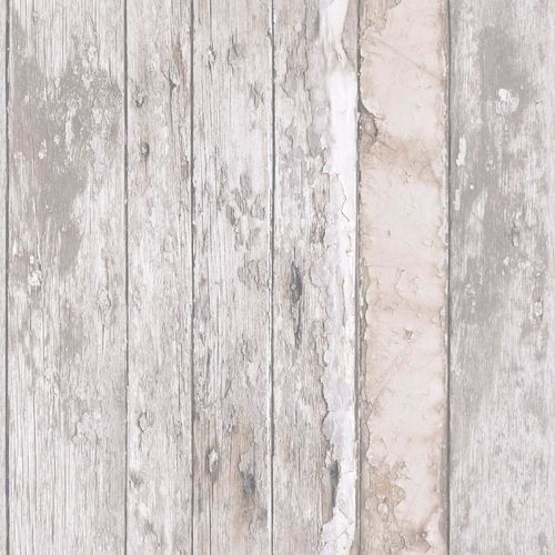 Non-Woven Wallpaper wood panels Used beige Exposure EP3608