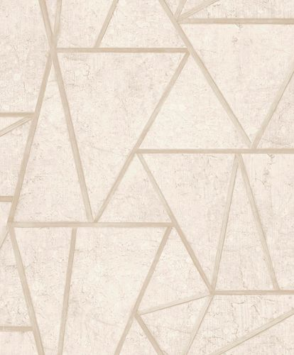 Non-Woven Wallpaper tiles geometric cream gloss EP3701 online kaufen