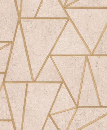 Non-Woven Wallpaper tiles geometric beige gloss EP3702 online kaufen