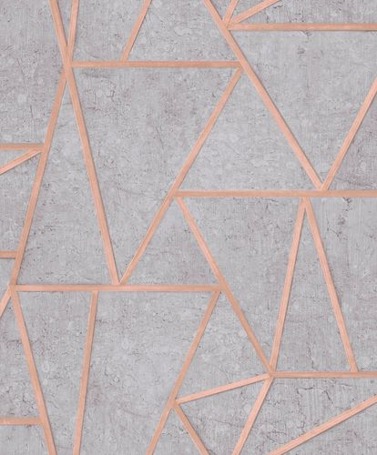 Non-Woven Wallpaper tiles geometric grey gloss EP3703 online kaufen