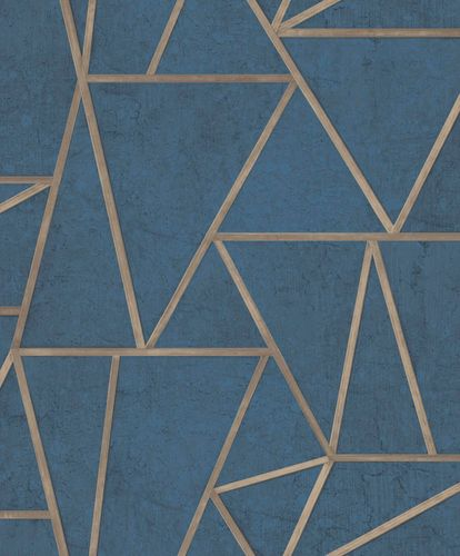 Non-Woven Wallpaper tiles geometric blue gloss EP3704