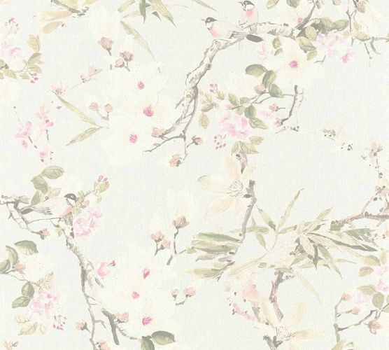 Designer Wallpaper Michalsky flowers grey green 36498-1 online kaufen