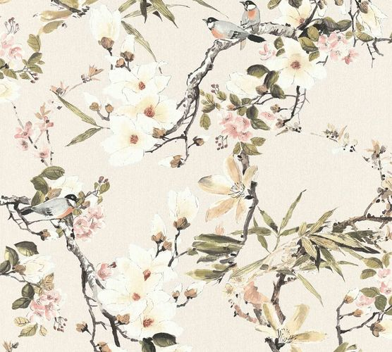 Designer Wallpaper Michalsky flowers cream green 36498-2 online kaufen