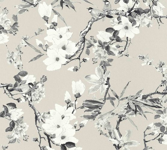 Designer Wallpaper Michalsky flowers taupe grey 36498-3