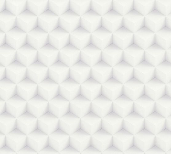 Non-Woven Wallpaper 3D cube pattern white grey 36185-1 online kaufen