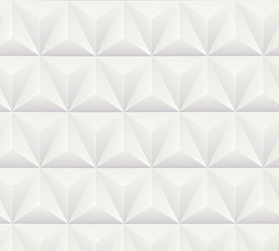 Non-Woven Wallpaper 3D triangle pattern grey 36186-1