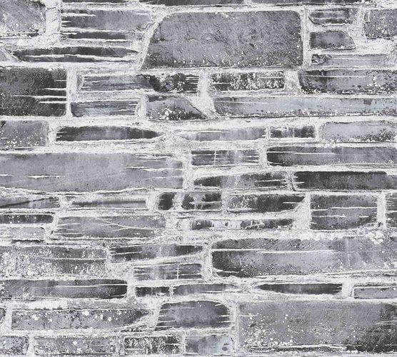 Tapete Steinmauer Vintage schwarz weiß 36459-1 online kaufen