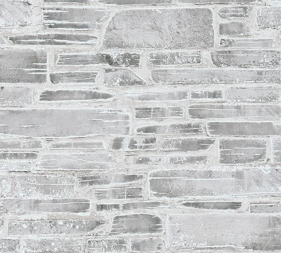 Wallpaper Stonewall Vintage grey white 36459-2