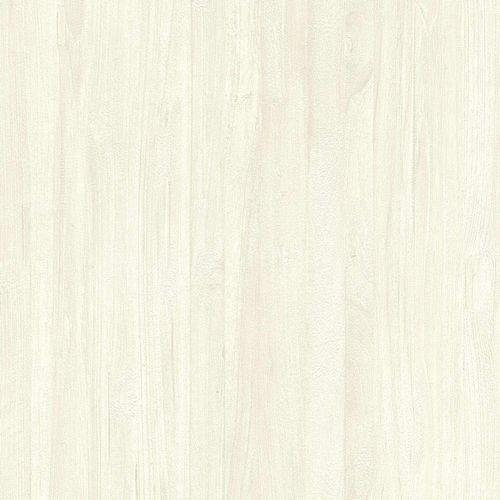 Non-woven Wallpaper Rasch 3D wood cream white 528411
