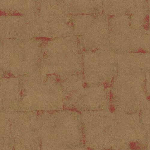Non-woven Wallpaper Rasch plaster pattern gold red 528602