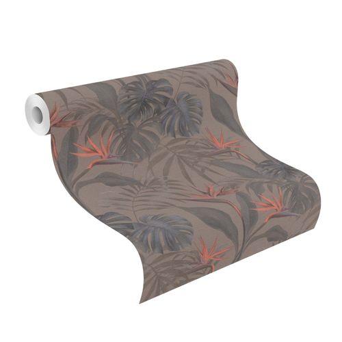Non-woven Wallpaper Rasch palm leaves brown 529043 online kaufen