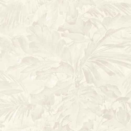 Non-woven Wallpaper Rasch leaves shadow white 529203