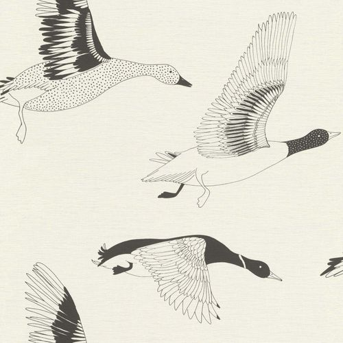Non-woven Wallpaper Onszelf birds geese black 530704