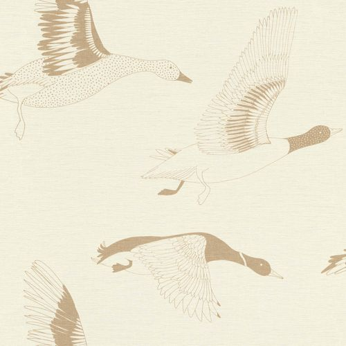 Non-woven Wallpaper Onszelf birds geese gold 530735