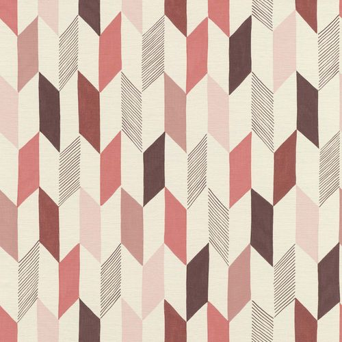 Non-woven Wallpaper Onszelf rhombus retro red 531039