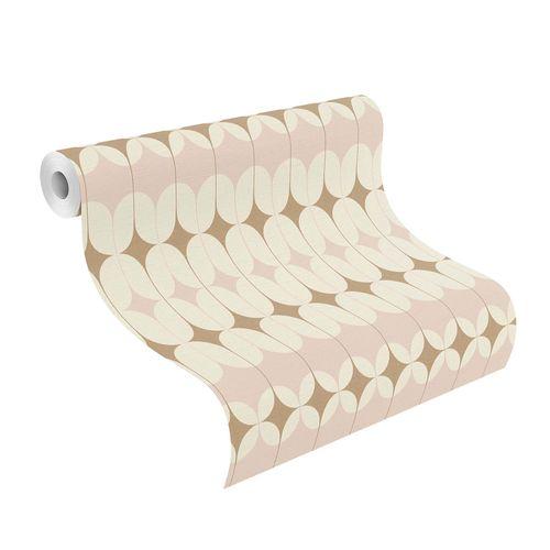 Non-woven Wallpaper Onszelf retro rose gold 531114 online kaufen