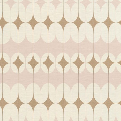 Non-woven Wallpaper Onszelf retro rose gold 531114