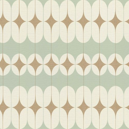 Non-woven Wallpaper Onszelf retro green gold 531121 online kaufen