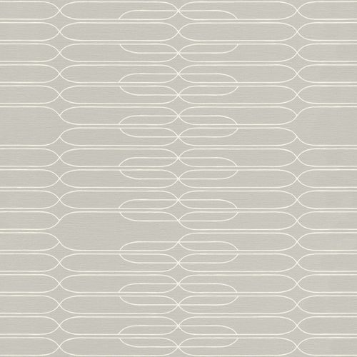 Non-woven Wallpaper Onszelf lines retro grey 531244