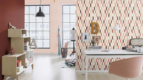 Non-woven Wallpaper Onszelf plain textile rose 531350 online kaufen
