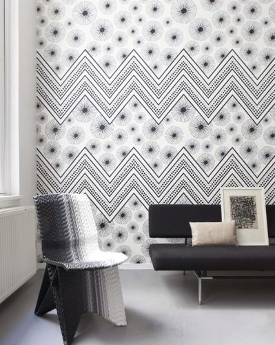 Photo Wallpaper Onszelf zigzag pattern black 532043 online kaufen