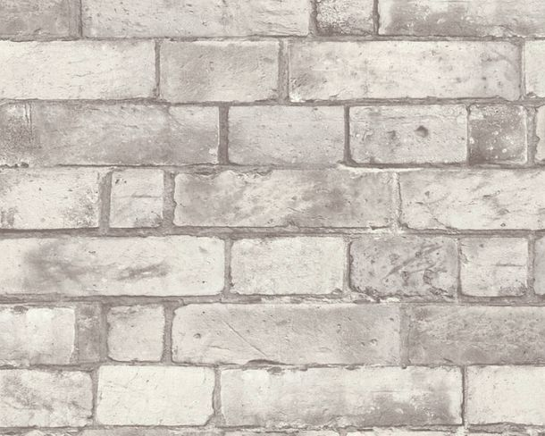 Non-Woven Wallpaper brick look grey 30256-2