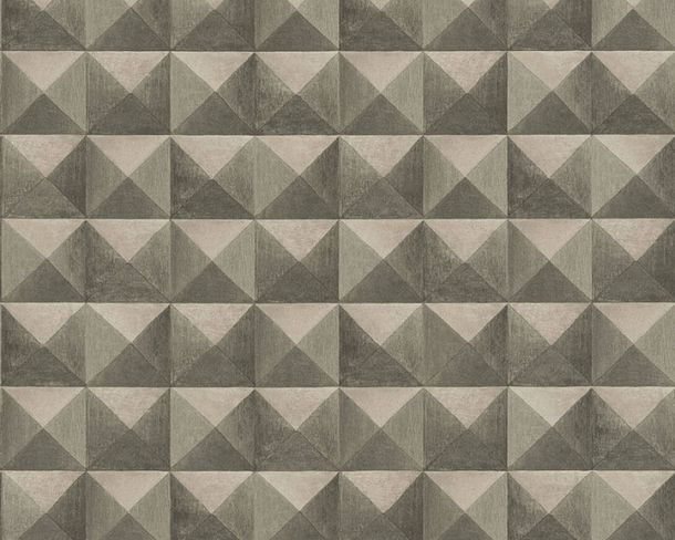 Non-Woven Wallpaper tiles 3D-effect brown beige 36275-1 online kaufen