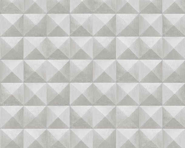 Non-Woven Wallpaper tiles 3D-effect light grey 36275-2 online kaufen