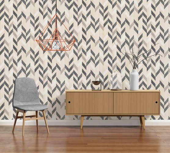 Non-Woven Wallpaper herringbone pattern beige 36496-2 online kaufen