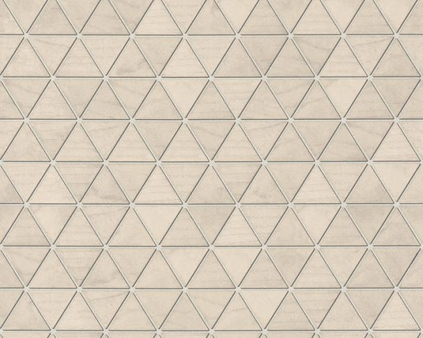 Non-Woven Wallpaper triangles tiles brown beige 36622-3 online kaufen