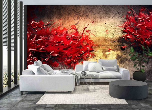 Digital Print Non-Woven Wall Mural Premium Abstract