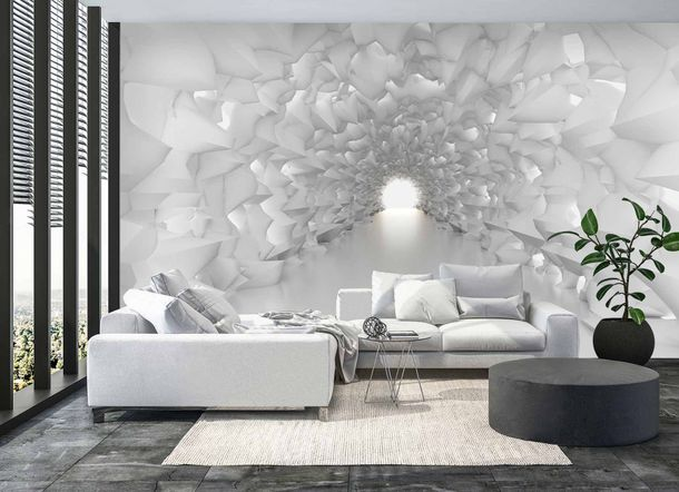 Digital Print Non-Woven Wall Mural Premium Crystal Tunnel