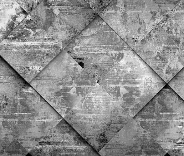 Digital Print Non-Woven Wall Mural Premium Tiles 3D grey online kaufen