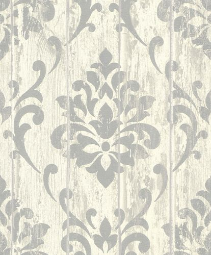 Non-woven wallpaper Rasch ornament cream glitter 625950