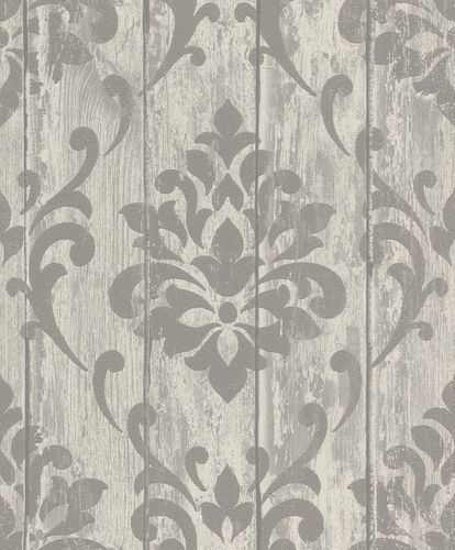 Non-woven wallpaper Rasch ornament grey glitter 625967 online kaufen