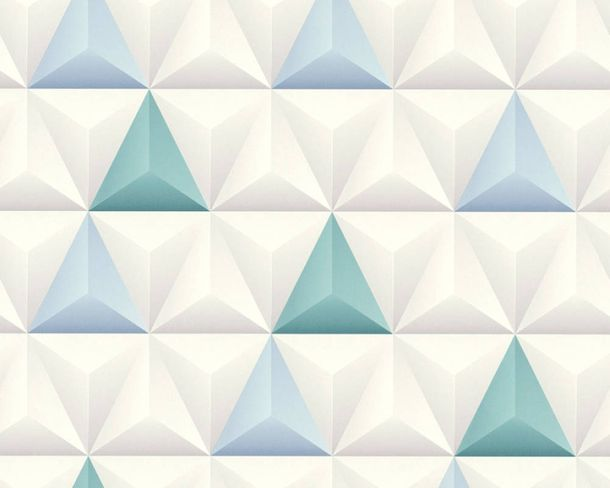 Non-Woven Wallpaper 3D triangle pattern grey 36186-2 online kaufen