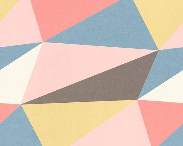 Non-Woven Wallpaper fractal pattern multicolour 36475-1 online kaufen