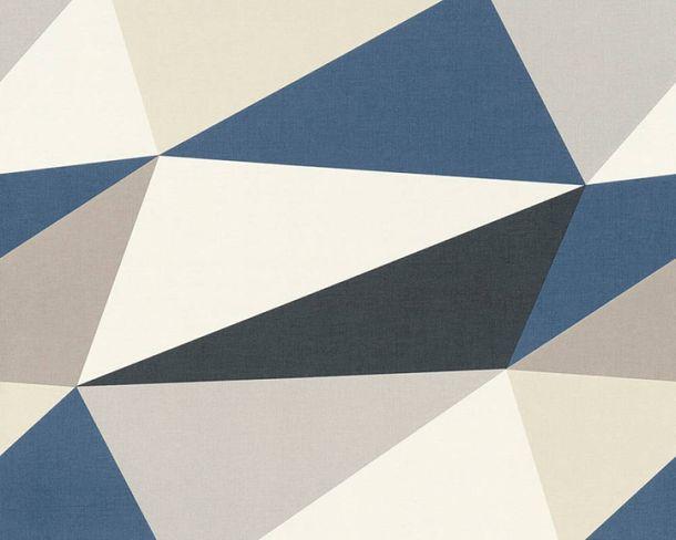 Non-Woven Wallpaper fractal pattern blue black 36475-2 online kaufen