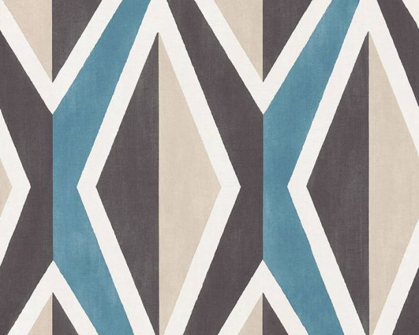 Non-Woven Wallpaper checked pattern blue black36682-1 online kaufen