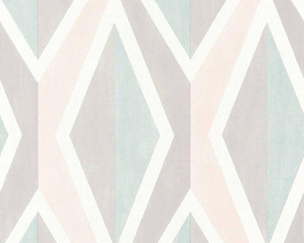 Vliestapeten Karomuster Skandinavisch rosa blau 36682-3 online kaufen