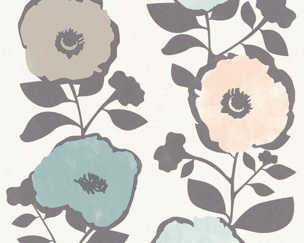 Vliestapeten Große Blumen cremegrau pastell 36724-3 online kaufen