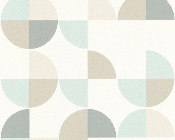 Non-Woven Wallpaper retro graphic white 36770-1