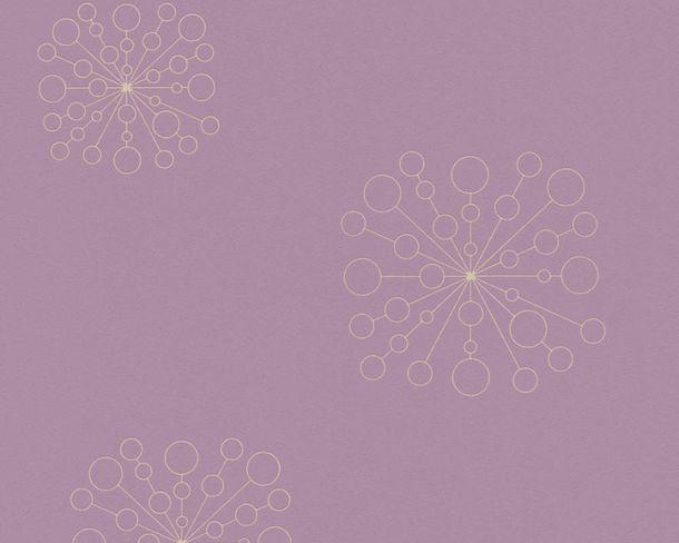 Vliestapeten Kreis-Motiv violett gold Metallic 36784-2 online kaufen