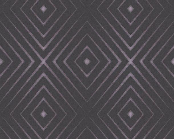 Non-Woven Wallpaper diamond black lila gloss 36785-3 online kaufen