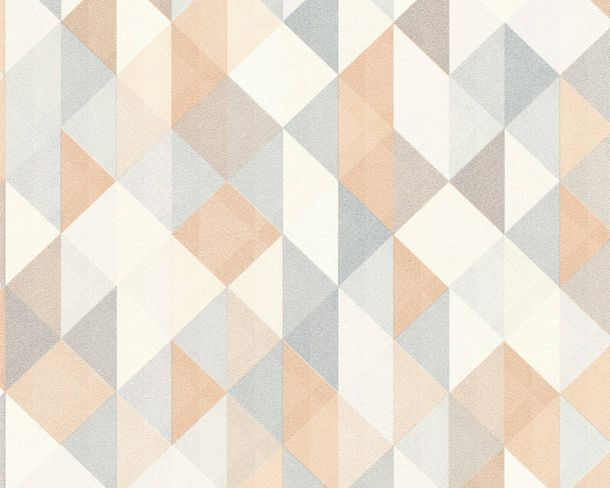 Non-Woven Wallpaper triangle silver copper 36786-2 online kaufen